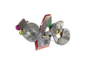 1° Premio MONICA CECCHI Spilla, latta riciclata Brooch, recycled tin